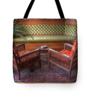 Sitting Area At Frank Lloyd Wright Home And Studio Tote Bag