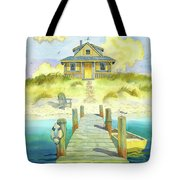 Sitting By The Dock Tote Bag