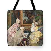 Sitting For A Portrait Tote Bag
