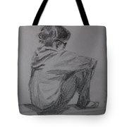 Sitting Girl Tote Bag