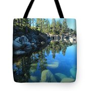 Sitting In Awe Of Her Surroundings Tote Bag