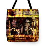 Sitting In Shade Tote Bag
