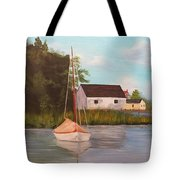 Sitting In Still Waters Tote Bag