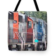 Sitting In The Switching Yard Tote Bag