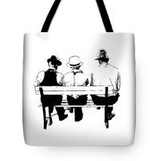 Sitting On A Park Bench Tote Bag