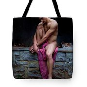 Sitting On A Wall Tote Bag