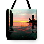 Sitting On The Dock Of The Bay Tote Bag