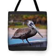 Sitting On The Pier Tote Bag
