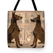 Sitting Proud Dogs And Ancient Egypt Tote Bag
