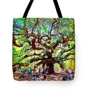 Sitting Under The Live Oaks Tote Bag