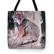 Sitting Wolf Tote Bag