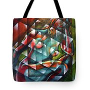 Sitting Woman Fixed In Motion Tote Bag