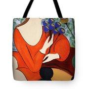Sitting Women Tote Bag