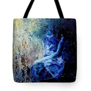 Sitting Young Girl Tote Bag by Pol Ledent