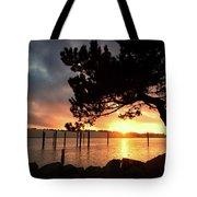 Siuslaw River Autumn Sunset Tote Bag