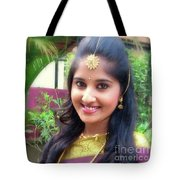 Siva's One And Only Baby Nisha Tote Bag