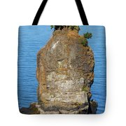 Siwash Rock By Stanley Park Tote Bag