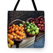 Six Baskets Of Assorted Fresh Fruit Tote Bag