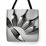 Six Forks Abstract Composition Tote Bag