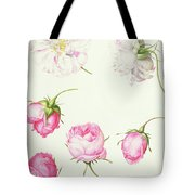 Six Heads Of Old Fashioned Roses Tote Bag