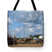 Six Horses Tote Bag