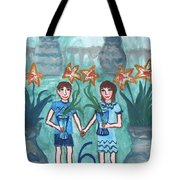 Six Of Cups Illustrated Tote Bag
