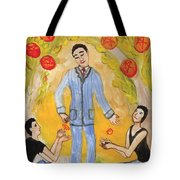 Six Of Pentacles Illustrated Tote Bag