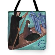 Six Of Swords Illustrated Tote Bag