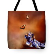Six Wild Tigers Tote Bag