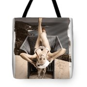 Sixties Classic Pin-up Beauty In Vintage Fashion Tote Bag by Jorgo Photography - Wall Art Gallery