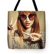 Sixties Retro Fashion Tote Bag