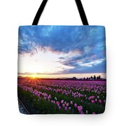 Skagit Floral Sunset Tote Bag