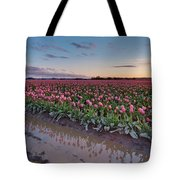 Skagit Valley Tulip Reflections Tote Bag