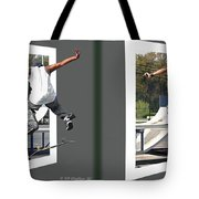 Skateboarder - Gently Cross Your Eyes And Focus On The Middle Image Tote Bag