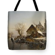 Skaters On The Canal Tote Bag