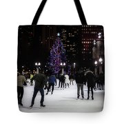 Skating By The Tree Tote Bag