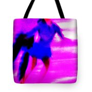 Skating Couple Abstract Tote Bag