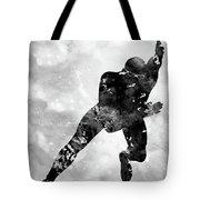 Skating Man-black Tote Bag