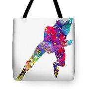 Skating Man-colorful Tote Bag