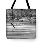 Skating On The Pond Tote Bag