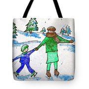 Skating With Mom Tote Bag