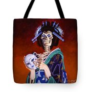 Skeletal Geisha With Mask Tote Bag