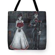 Skeleton Bride And Groom Aka Amor Sencillo Tote Bag