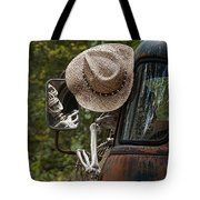 Skeleton Crew - Skeleton Driving A Vintage Truck Tote Bag