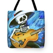 Skeleton Guitar Day Of The Dead  Tote Bag