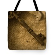 Skeleton Key Tote Bag by Ann E Robson
