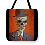 Skeleton Man Tote Bag