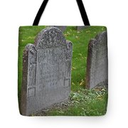 Skeleton Tombstone 1600s Tote Bag