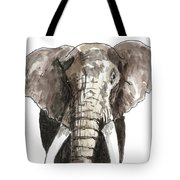 Sketch Elephant Tote Bag
