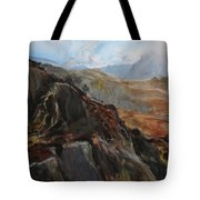 Sketch In Snowdonia Tote Bag by Harry Robertson